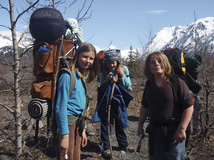 Youth, ages 10-13, learn basic wilderness skills and more on HoWL's backpacking trips through Kachemak Bay State Park